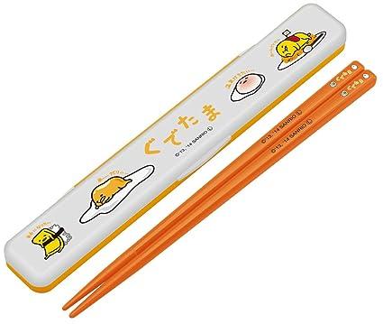 amazon com skater chopsticks chopstick case set 18cm gudetama