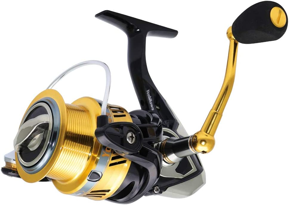 Yoshikawa Spinning Reel 6.6:1 High Speed 10+1 Anti-Corrosion BBS Ultra Light Graphite Body Fishing Reel Freshwater Bass Fishing