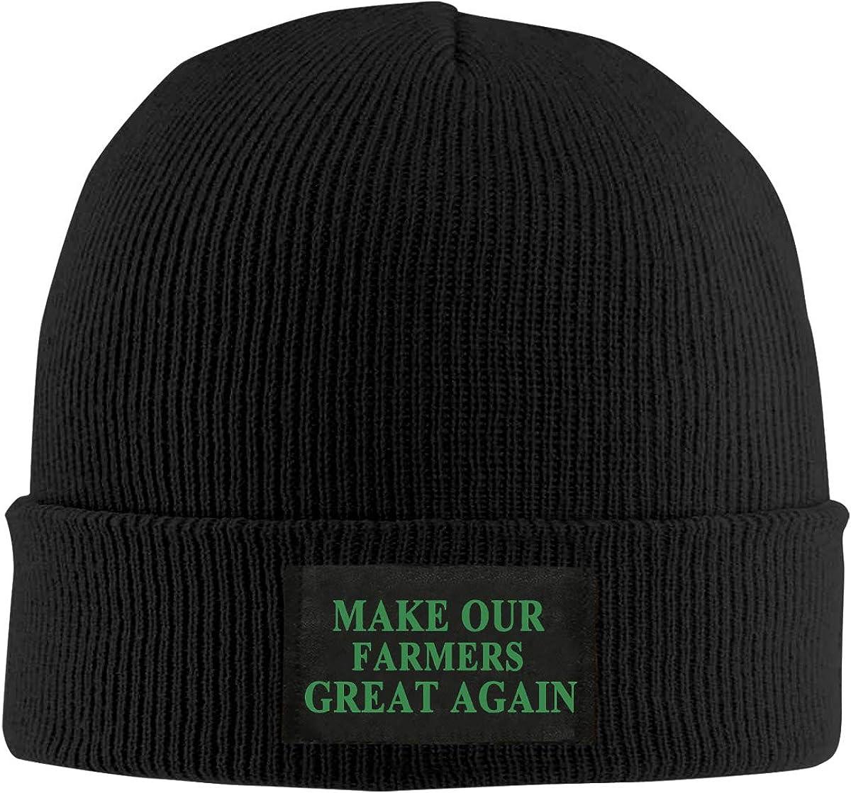 Make Our Farmers Great Again Unisex Warm Winter Hat Knit Beanie Skull Cap Cuff Beanie Hat Winter Hats