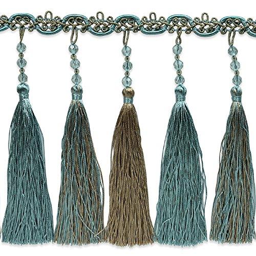 Expo International Cilene Beaded Tassel Fringe Trim Embellishment, 20-Yard, Blue by Expo International