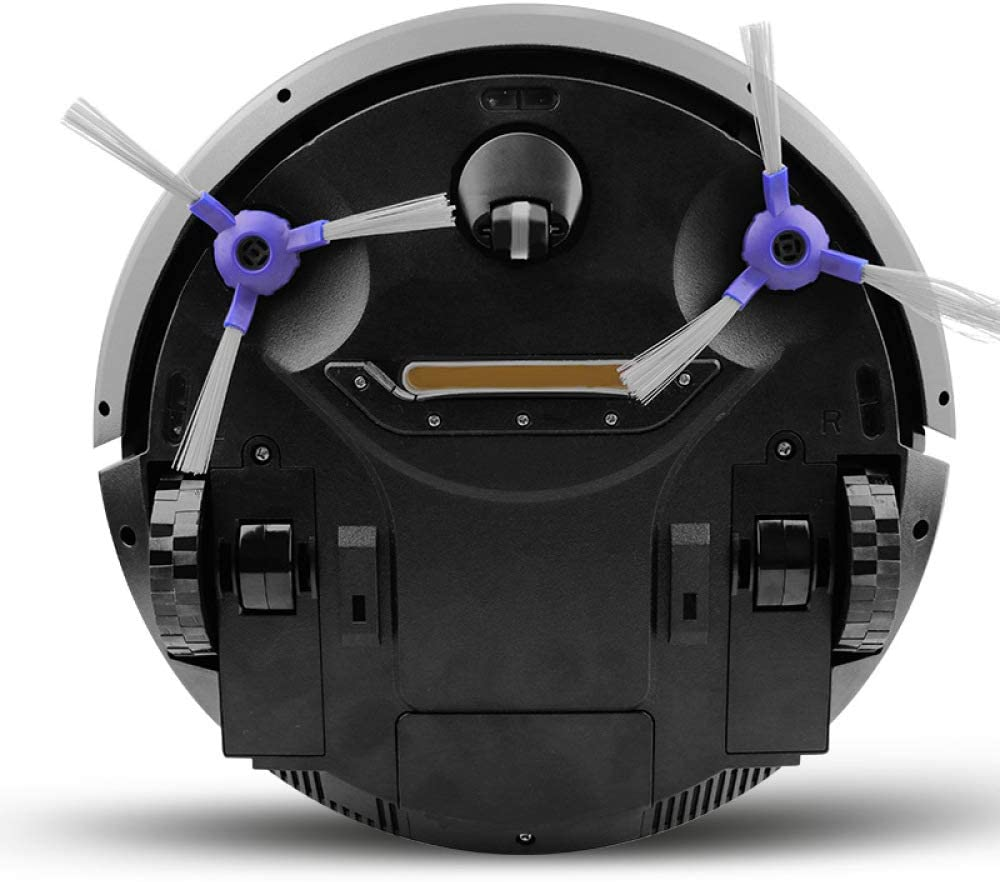 WANGXIAO Aspirateur Robot,Contrôle APP Puissant Aspiration Balayage Intelligent Balayage Automatique Robot De Balayage 3 en 1 pour Tapis,Black White
