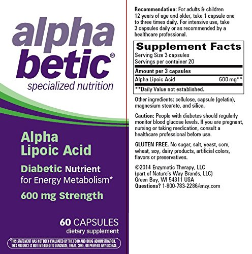 alpha betic Alpha Lipoic Acid Capsules 60 Capsules (Pack of 9)