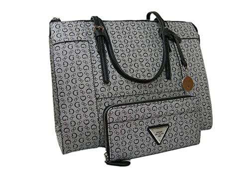 cec23e3d29 Guess G Logo - Bolso de mano y portafolios, 2 piezas, color negro y ...