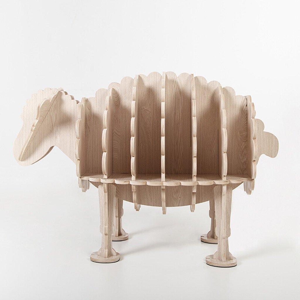 WAN SAN QIAN- Shelf Nordic Creative Home Decoration Animal Frame Simple Personality Animal Shape Shelf Sheep White Walnut Family 94x48x63cm Shelf