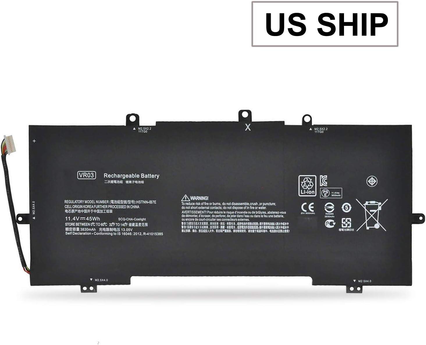 VR03XL Battery,VR03 Battery for HP Envy 13-d 13-d000 Series:13-d010nr 13-d008na 13-d053s3 13-d040wm 13-d049tu 13-d040nr 13-d010nr 13-d022tu 13-d006la 816497-1C1 816497-1C1 HSTNN-IB7E TPN-C120 EMAKS