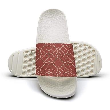 9e3aa8fa2c12e Amazon.com: Women's Geometric Floral Ethnic Red Slippers Non-Slip ...