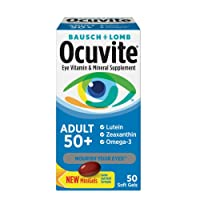Bausch & Lomb Ocuvite Adult 50+ Eye Vitamin & Mineral Softgels 50 ea ( Pack of 3)