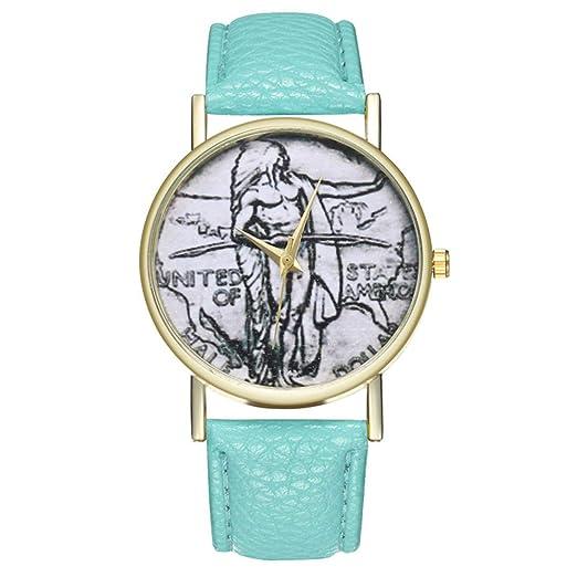 Reloj de Cuarzo para Adolescentes, Estudiantes, Retro, Reloj de Cortex Humano (Mente