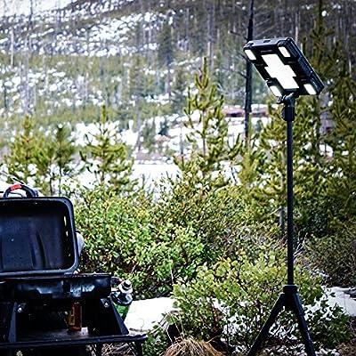 Freespirit Recreation Portable Rechargeable Waterproof Solar LED Area Light, Black Ops