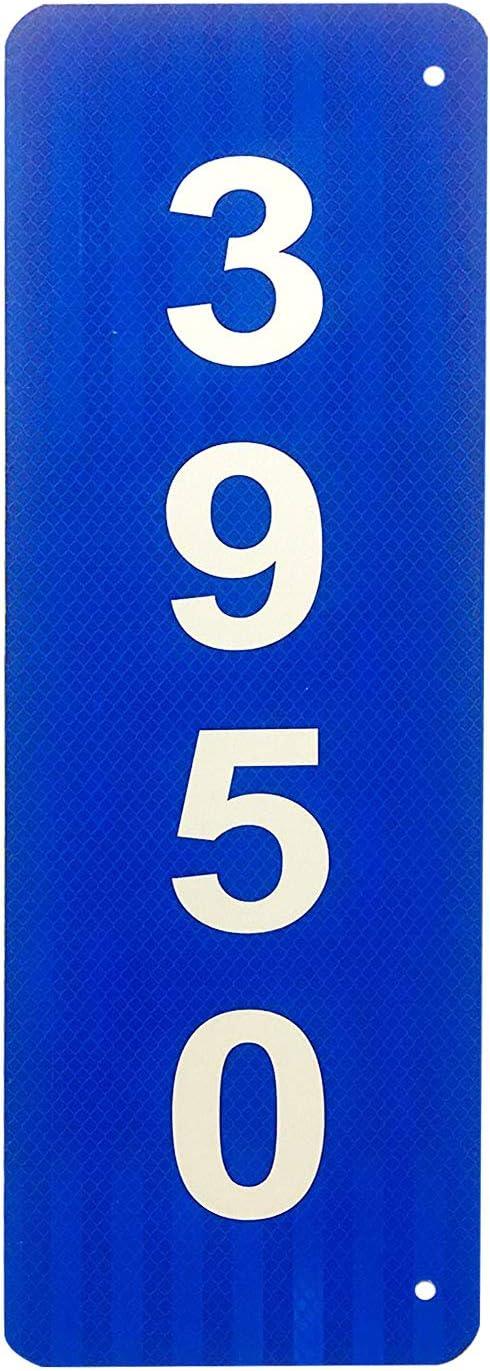 Custom Reflective Blue 911 Address Aluminum Sign