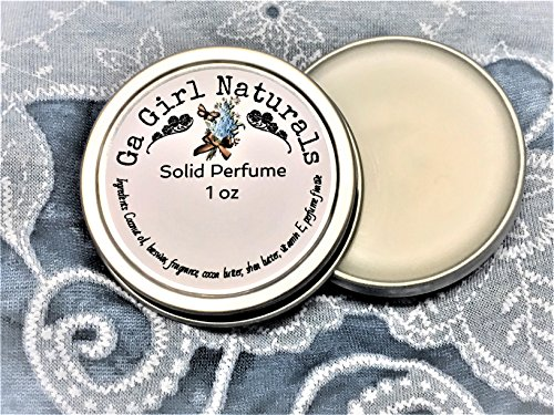 White Peach and Silk Blossoms TYPE Solid Perfume, Perfume, Perfume Balm, Solid Fragrance, Natural, Handmade by GA Girl Naturals