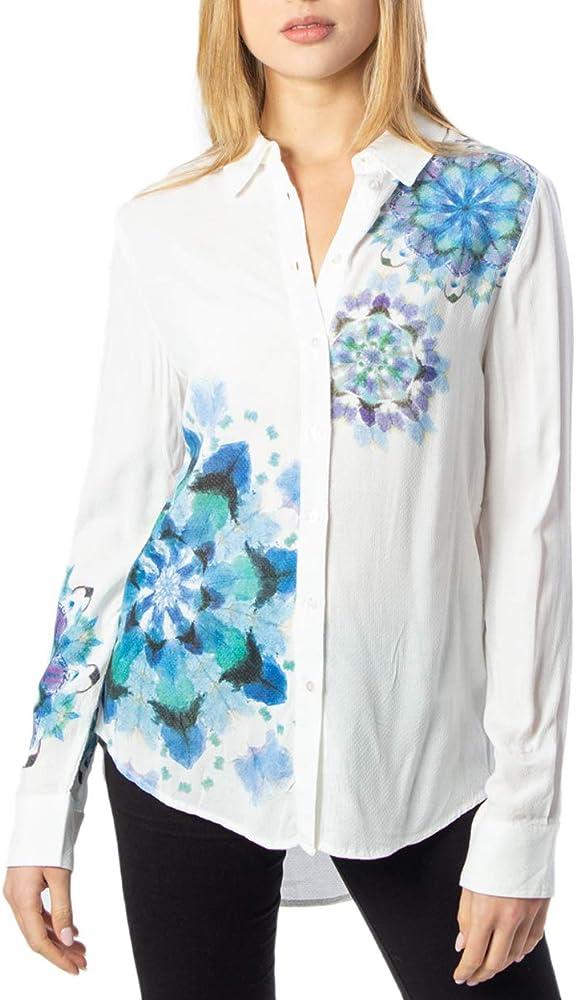 Desigual Camicia Manica Lunga Donna CAM Vicenza 20swcw71 XS Bianco: Amazon.es: Ropa y accesorios