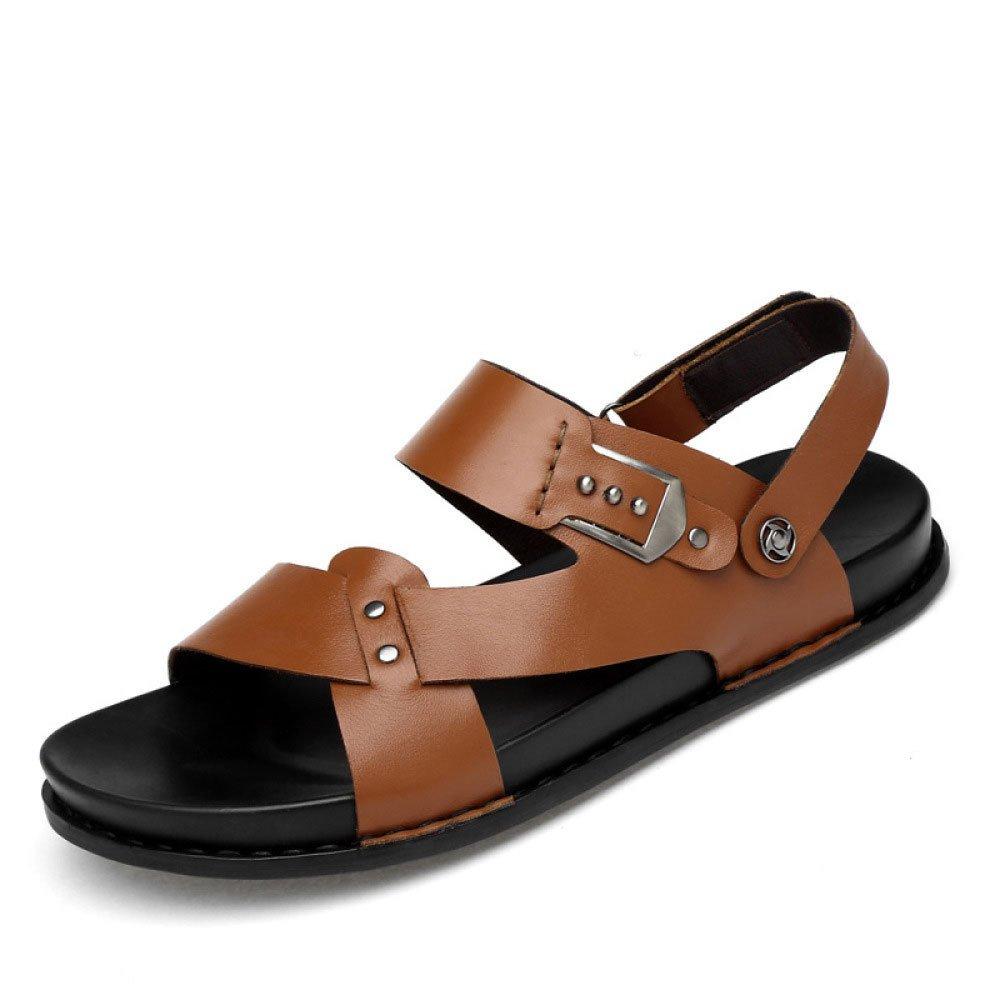 Zapatillas De Playa De Verano Sandalias Informales De Hombre Zapatillas De Suturas 39 EU|Brown
