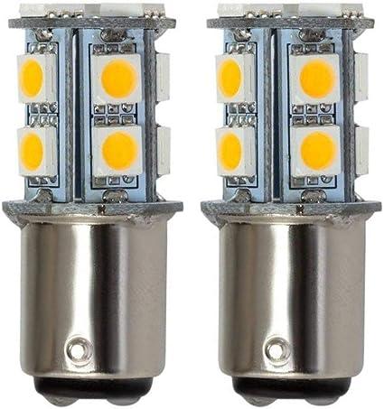 Grv Ba15d 1142 1076 1176 High Bright Car LED Bulb 13-5050SMD AC//DC12V 24V 28V Warm White Pack of 2