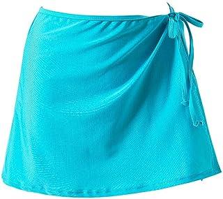 HEHEAB Falda Dividir La Falda Falda De Color Liso Linda Playa Cubierta De Envoltura Separa El Verano Mujer Mini Faldas
