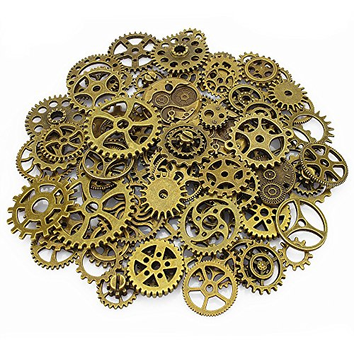 lollibeads-120-gram-antiqued-bronze-metal-skeleton-steampunk-watch-gear-cog-wheel-sets-80pcs