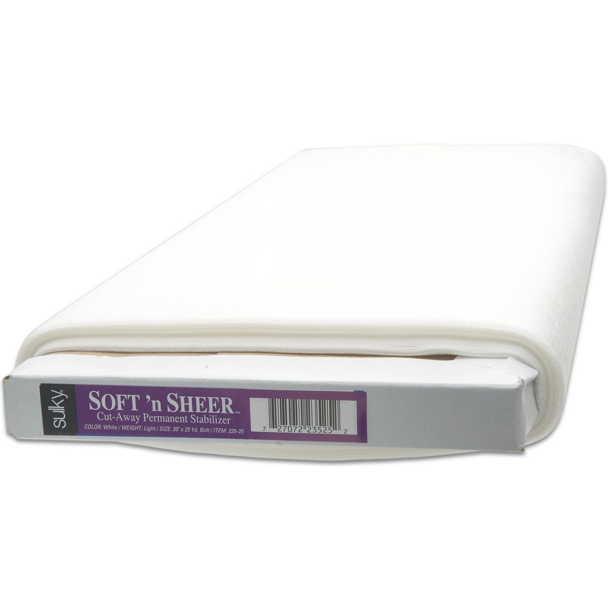 Sulky 235-25 Soft and Sheer Cut, Away Permanent Stabilizer, 20'' by 25 yd by Sulky
