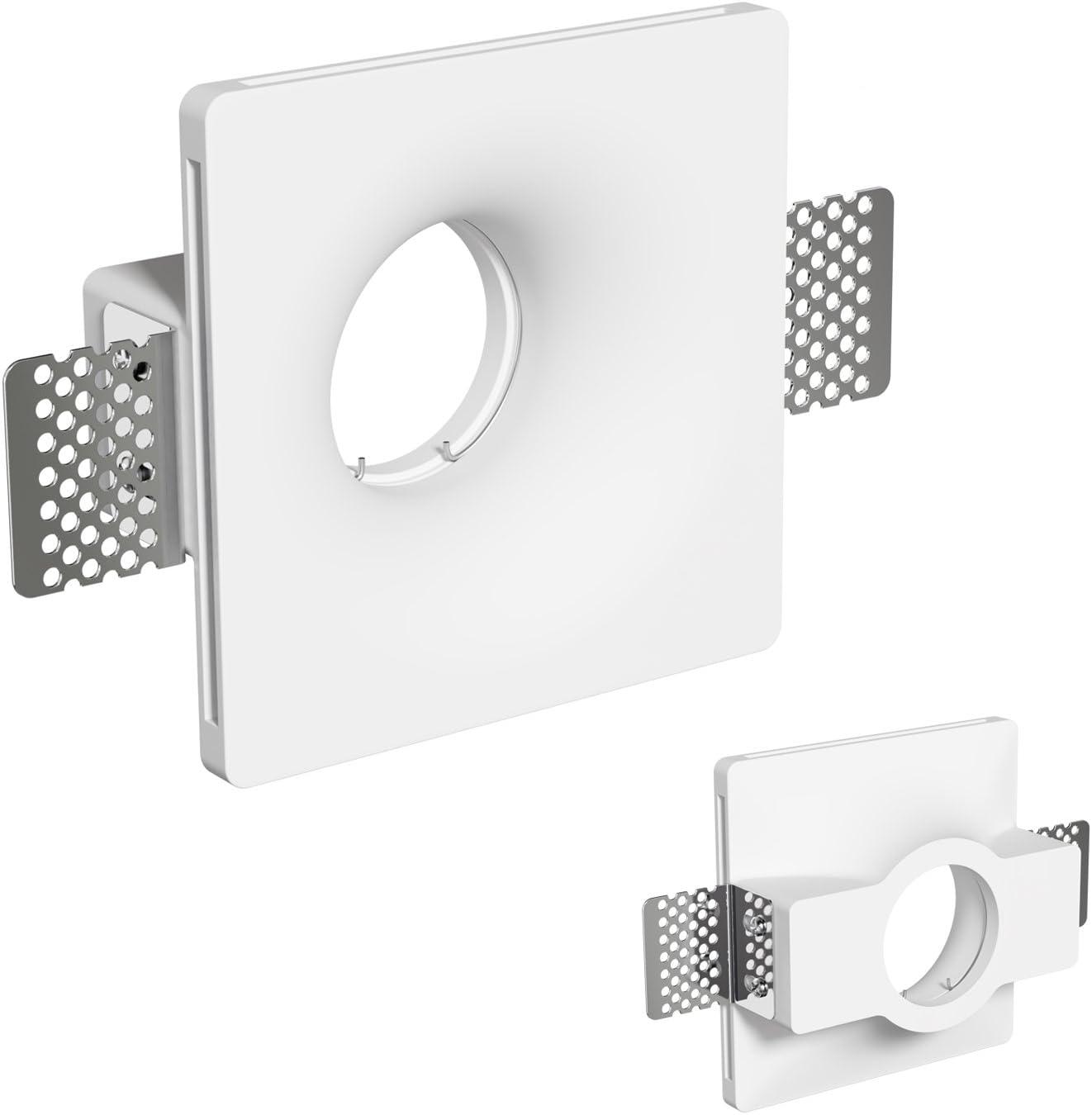 ledscom.de Gips Einbaustrahler GIDS DIY inkl. GU10 Lampe 340lm weiß 6er Set 10er-set