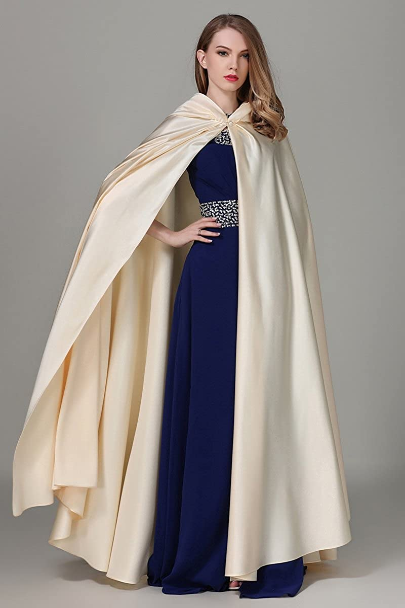 Hooded Cape Cloak Poncho for Wedding Full Length (More Colors): Amazon.co.uk: Clothing