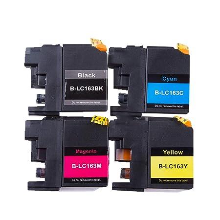 GYBN - Cartucho de Tinta de Color Negro con Chip para Brother MFC ...