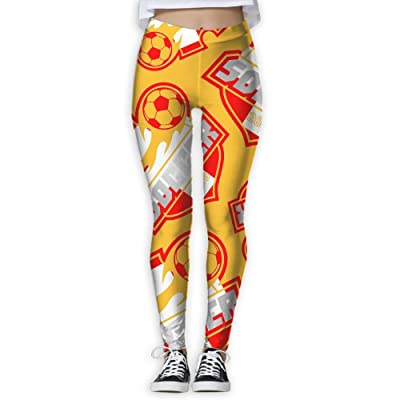 2018 Soccer Switzerland Women Printed Athletic Yoga Pants Exercise Athletic Pants Soft High Waisted Yoga Leggings