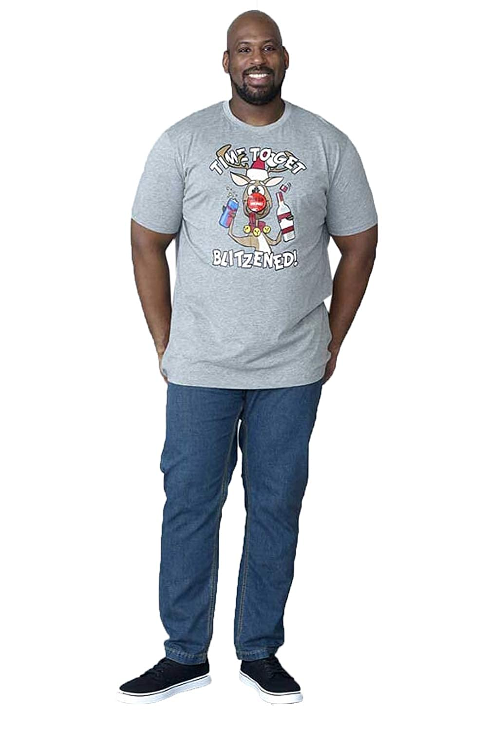 D555 Duke Mens Big Tall King Size Crew Neck Knitted Christmas Jumpers and T-Shirts KS16157B