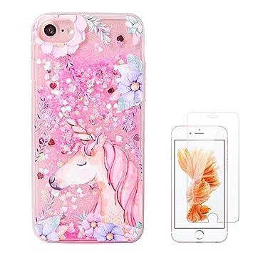 Unicorn liquid case For iphone X/ 8