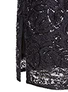 Vijiv Vintage 1920s Gatsby Sequin Beaded Lace Cocktail Party Flapper Dress With Sleeves