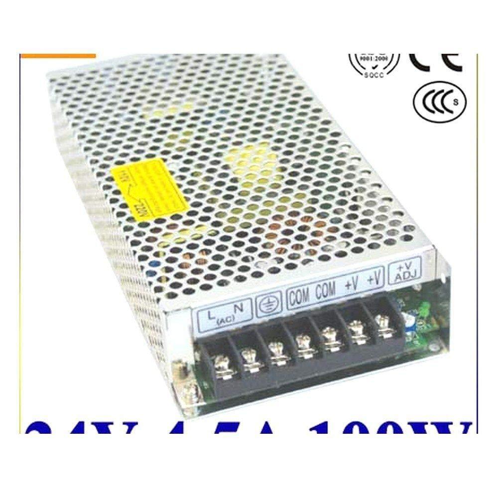 iProTool Single Output Switching Power Supply 24V 4.5A 100~120V//200~240V AC Input LED Power Supply 100W 24V Transformer