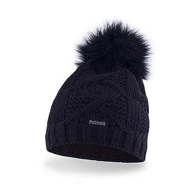 PaMaMi® Women s Pom Pom Beanie Hat  6f1321f25