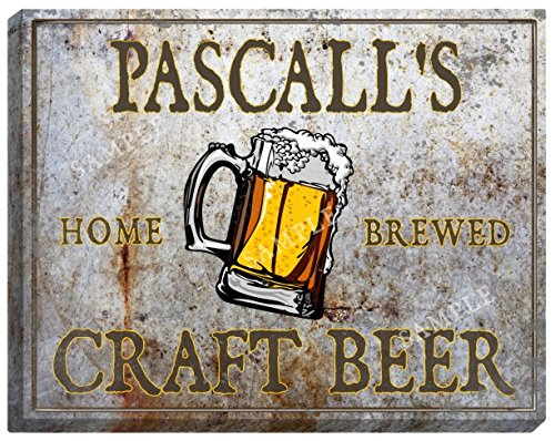 pascalls-craft-beer-stretched-canvas-sign