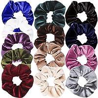 Wecoe 13 Pack Velvet Hair Scrunchies Super Soft Scrunchies Hair Ties Elastic Velvet Hair Accessories Hair Bands Ropes