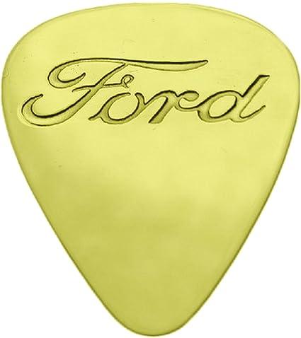 Ford - sólido latón púa de guitarra: Amazon.es: Instrumentos musicales