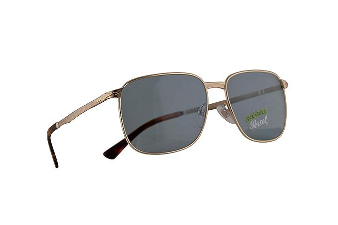 Persol Miller 2463-S Gafas de Sol Doradas con Lentes Azul ...