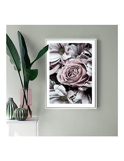 XHHH Pintura Cartel Hermosas Rosas Arte De La Pared Lienzo ...