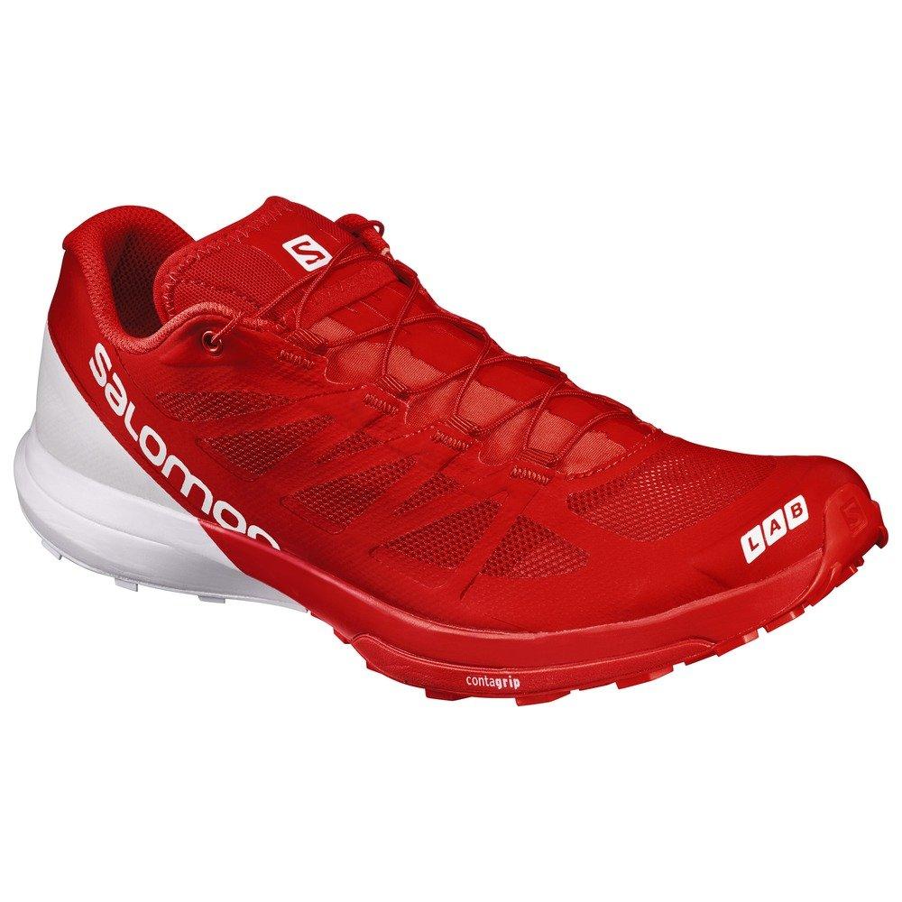 Salomon Unisex S-Lab Sense 6 Shoes & Quicklace Bundle B01N3D3M8V 10 D(M) US Racing Red / White / White
