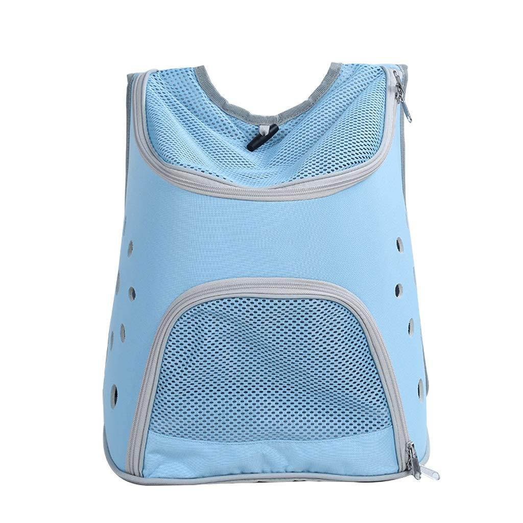 bluee LSLMCS Portable Pet Bag ,Shoulder Space Capsule Portable with Cat, Dog Portable Pet Bag Travel Box Large Backpack for Excursions (color   bluee)
