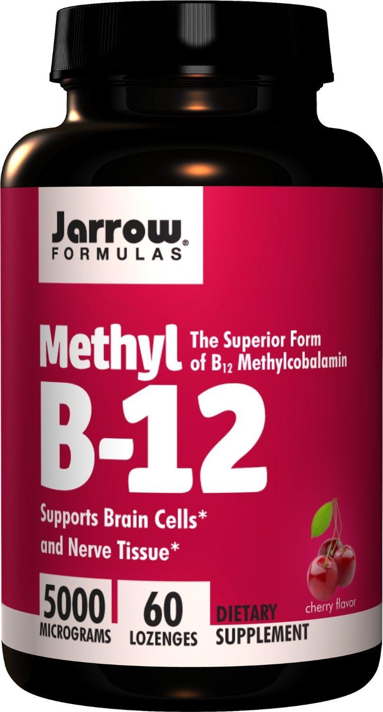 Jarrow Formulas Methylcobalamin (Methyl B12), 5000mcg, 60 Lozenges (Pack of 4) ,Jarrow-foky