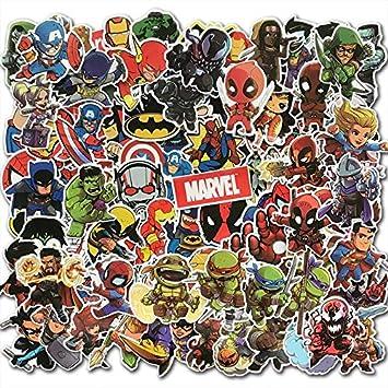 100 Pcs Lot Dessin Anime Mignon Super Heros Autocollants Marvel