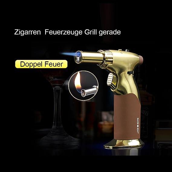 JOBON ajustable linterna de aleación de Signle Jet llama Pistola Encendedor de cigarrillos zb-529 a Incluye sistema de recambio rápido y cierre de seguridad ...