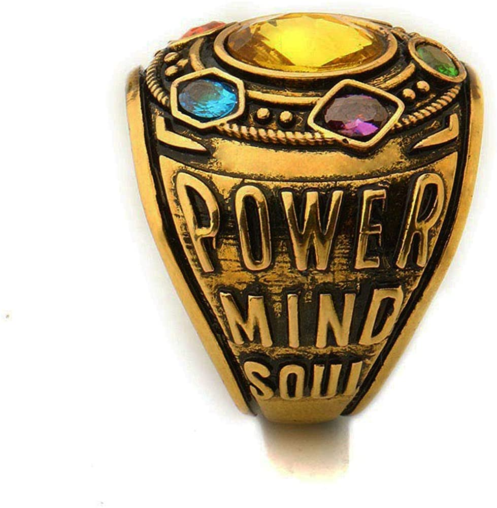 Infinity Stones Ring Inspirational Power Ring Thanos Ring Cosplay Costume Prop