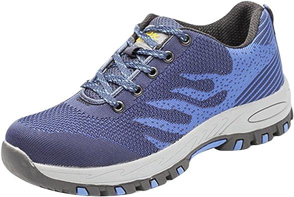 Unisex Antideslizante Calzado de Trabajo Zapatillas de Seguridad para Hombre Mujer junkai: Amazon.es: Zapatos y complementos