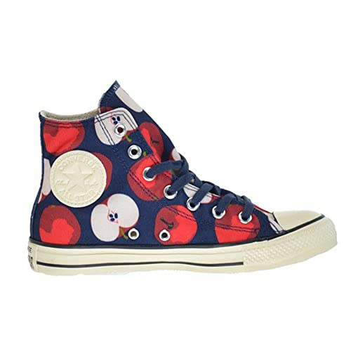 Converse Chuck Taylor All Star Apple Print Hi Top Nighttime NavyChili  Paste 549721C Womens