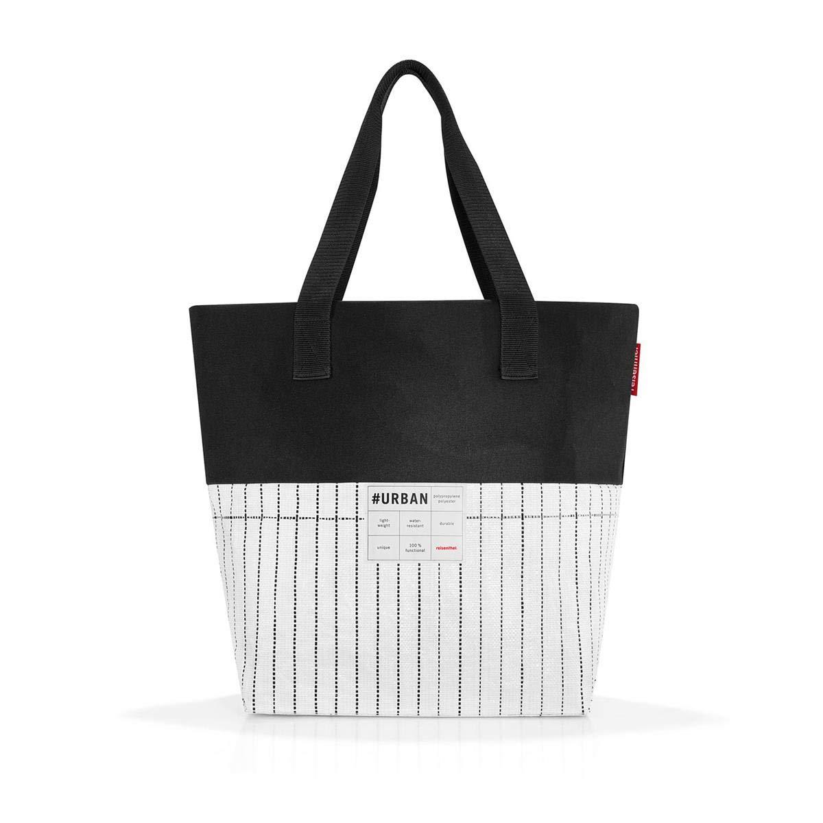 Reisenthel Urban Sac de Sport Grand Format, 48 cm, 15 liters, Multicolore (Black White)