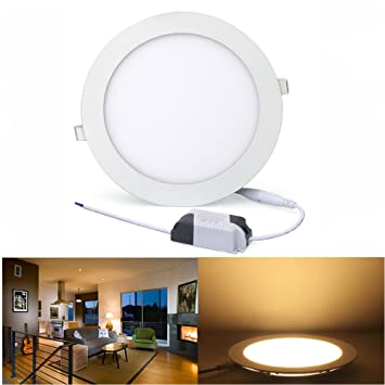 Amazon lvjing dimmable led recessed ceiling light panel fixture lvjing dimmable led recessed ceiling light panel fixture 6inch 15w downlight 2835 smd chip aloadofball Images