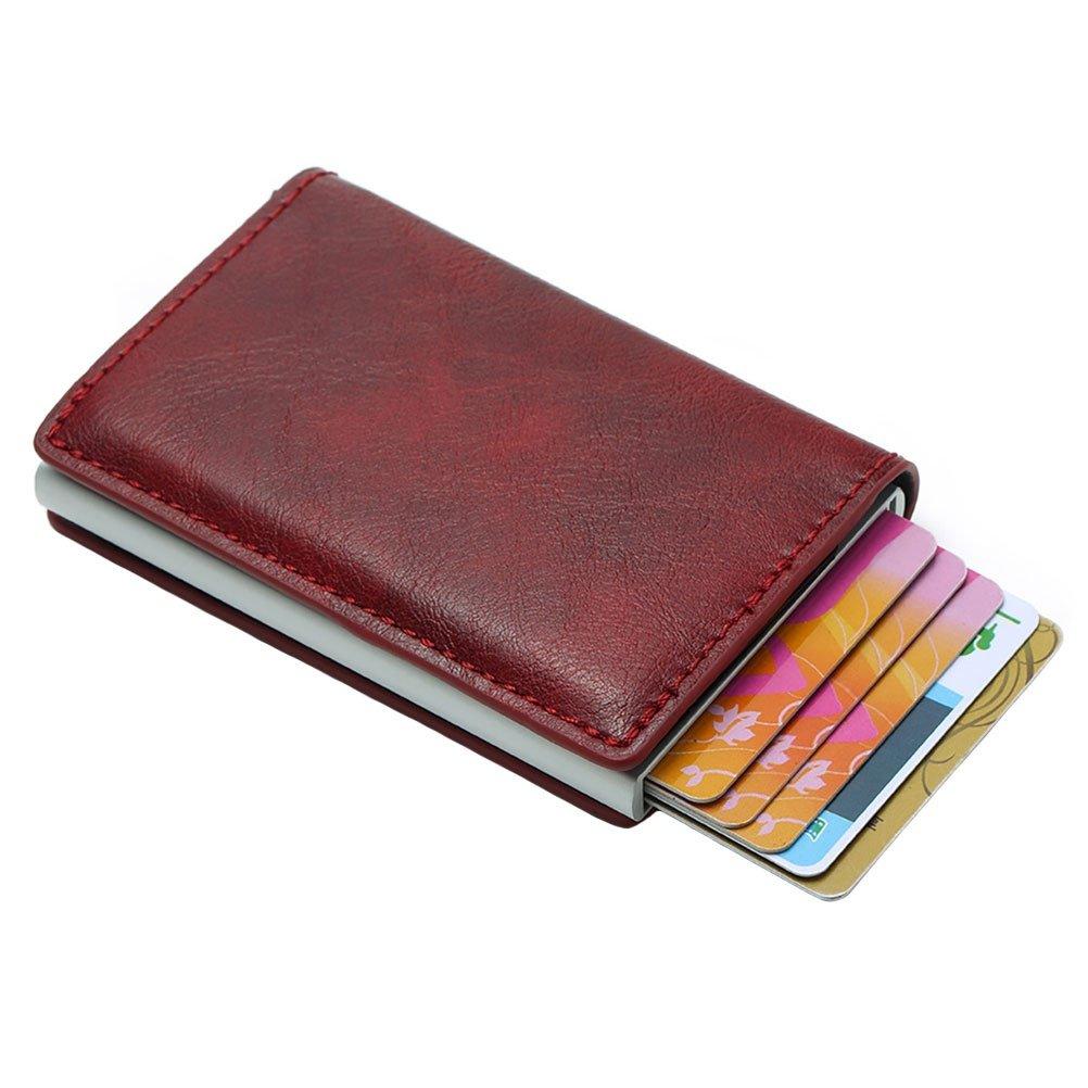 87c98a6b3 Tarjeta De Crédito Wallet Mejor Billetera Minimalista Colección 2018  Aleación De Aluminio + Abs + PU, Amarillo-Marrón: Amazon.es: Equipaje