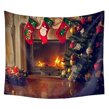QCWN Tapiz de árbol de Navidad, árbol de Navidad, adornos para árbol de Navidad