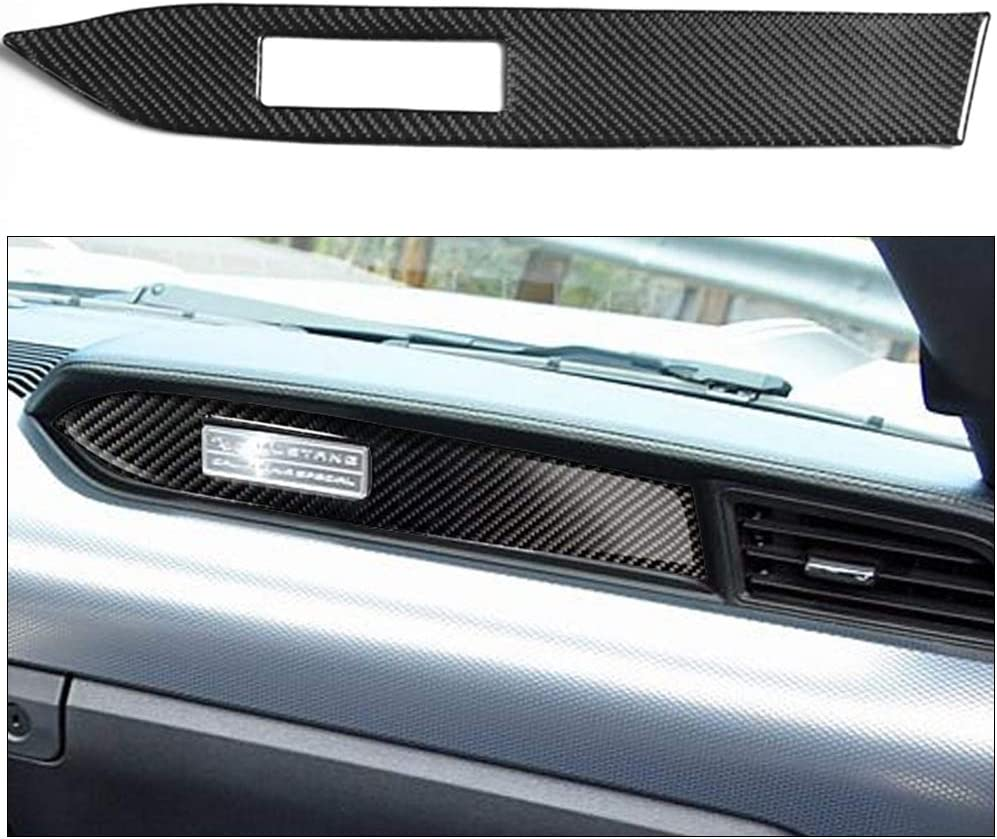 ABIJYI Car Center Control Panel Cover Trim,Carbon Fiber Interior Dashboard Frame Decoration Co-Pilot Passenger Seat Sticker Auto Accessories Decal for Ford Mustang 2015 2016 2017 2018 2019