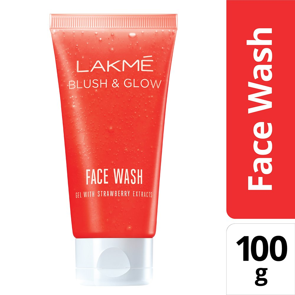 Lakme Blush and Glow Strawberry Gel Face Wash, 100g product image