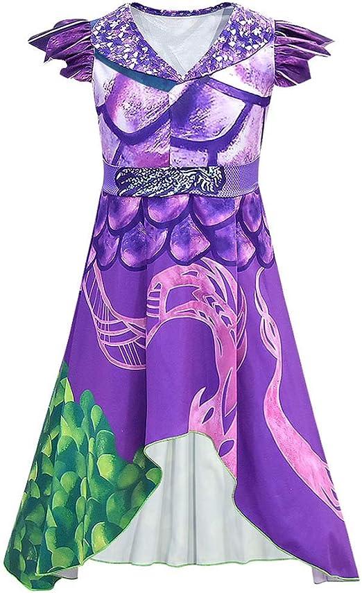 Descendientes 3 Veces Vestido de dragón para niñas Disfraces ...